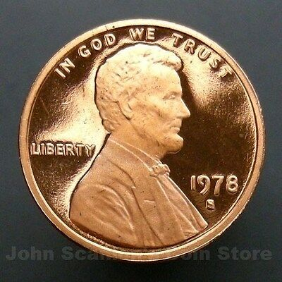 1978-S Lincoln Memorial Cent Penny - Gem Proof Deep Cameo U.S. Coin