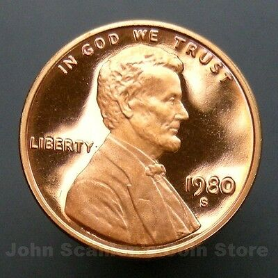 1980-S Lincoln Memorial Cent Penny - Gem Proof Deep Cameo U.S. Coin