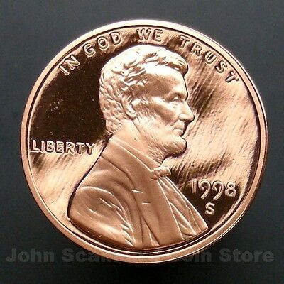 1998-S Lincoln Memorial Cent Penny - Gem Proof Deep Cameo U.S. Coin