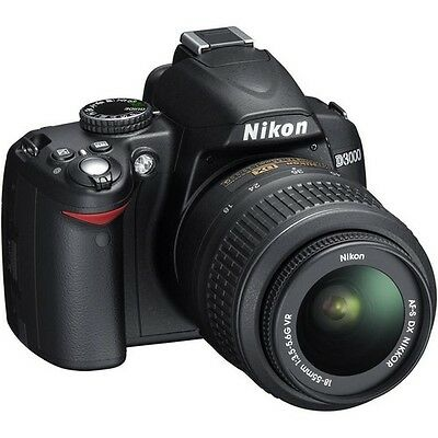 Nikon D3000 10.2 MP Digital SLR Camera - Black (Kit w/ AF-S DX 18-55mm VR Lens)