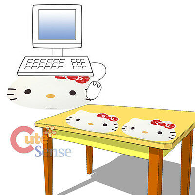 """Sanrio Hello Kitty Face Computer Mouse Pad 17"""" XL Table Accent Mat - Whtie"""