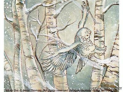 Nene Thomas White Out Winter Owl Limited Edition LE Signed Print MTG RARE