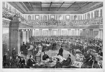 Judge, Court 1868 Senate As A Court Of Impeachment For Trial Of Andrew Johnson