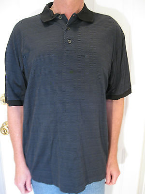 bdbf60d0 Hugo Boss Golf Blue And Black 100 % Cotton Polo Shirt Size Xl, Made In