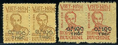 Vietnam O6/07 Mint Never Hinged Pair As Shown Extremely Rare