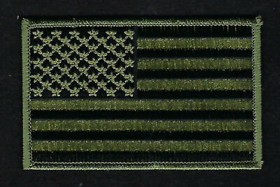 Made Us Shoulder/jacket Size Od Green Flag Usa Badge Embroidered Hat Patch Usa
