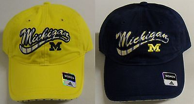 1e1ce712672 NCAA Michigan Wolverines Women s Adidas Buckle-Back Curve Brim Slouch Cap  Hat