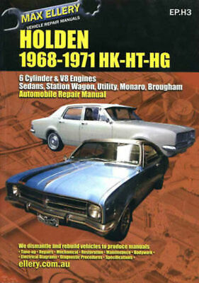 Holden 1968-71 HK HT HG Workshop Repair Manual 6 & V8