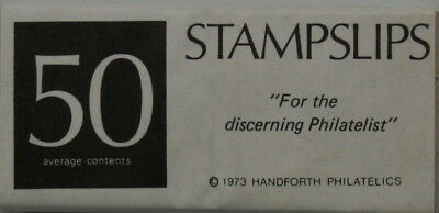 Stampslips - perfect for labelling and describing stamps. 10 packs of 50.
