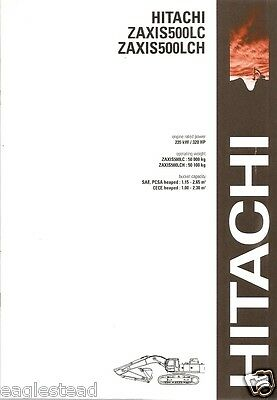 Equipment Brochure - Hitachi - Zaxis 500LC 500LCH - Excavator - 2003 (EB704)