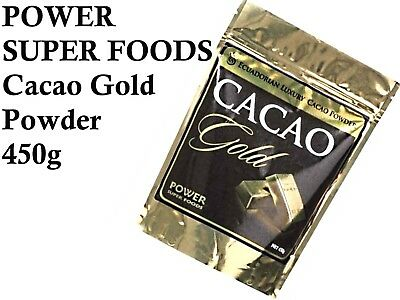 POWER SUPER FOODS 450g CACAO GOLD POWDER Mayan Superfood Organic  Raw Chocolate