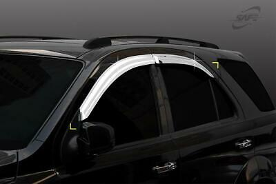 For Kia Sorento 2003 - 2009 Chrome Wind Deflectors Set - 5 door  (4 pieces)