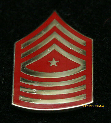 Sergeant Major Sgtmaj E-9 Chevron Lapel Hat Pin Up Us Marines Veteran Gift Usmc