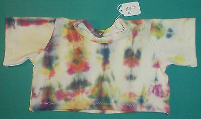 White Tie-Dyed Short Sleeve T-Shirt for My Size Barbie MYT01