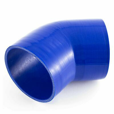 APS 45 Degree Silicone/Silicon Hose Elbow Bend - Rubber/Coolant/Radiator/Pipe