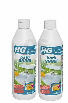 HG HAGESAN BATH SHINE BATHROOM TILE WASH BASIN 500ml 0.5 LITRE - TWIN PACK