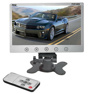 New Pyle PHR108W 10.2'' Headrest Monitor/Stand & Shroud w/RCA Connectors+ Remote