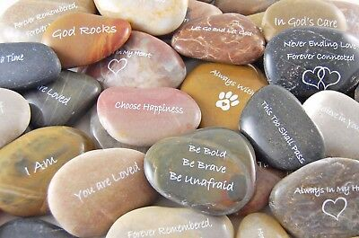 Engraved River Rocks - Inspirational Sayings and Phrases