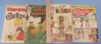 Vintage Comic Books Beetle Bailey Blondie Archie and Dennis The Menace Lot of 4