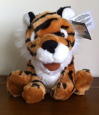 RUSS Tiger Hand Puppet Soft Plush Toy with Roaring Sound Large