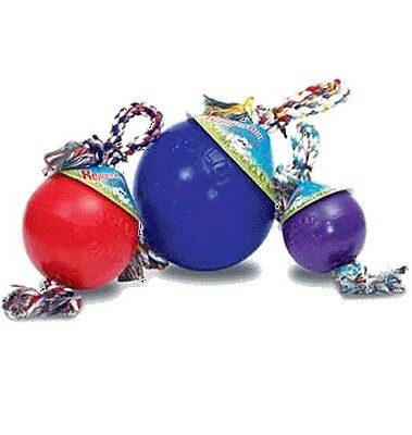 JOLLY PETS BALL ROMP-N-ROLL puncture resistant large dog tug toy hard wearing