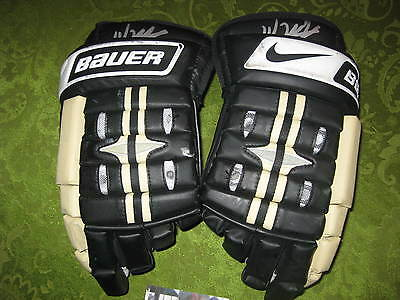 Jordan Staal Autographed Auto Nhl Game Worn Bauer Gloves Pittsburgh Penguins