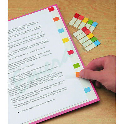 100 Coloured Index Sticky Post It Page Note Marker Index Tabs 5 Colours In Set