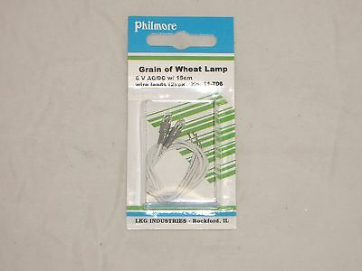 Philmore 11-706 6V Ac/dc Grain Of Wheat Meter Light Lamp Lamps Indicator 2/pk