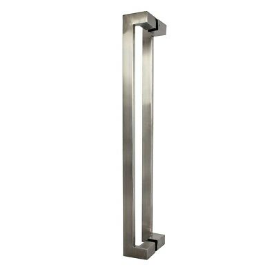 Kaba Entrance Door Pull Handle PH601UFSSS Offset Back To Back SS 30x600x15mm