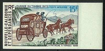 Nouvelle Caledonie Diligence Journee Timbre Stampday Non Dentele Imperf ** 1973