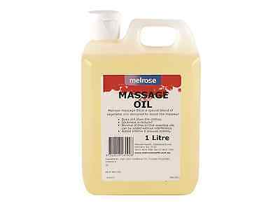 MELROSE Unscented Massage Oil 1L (1 Litre Pack)