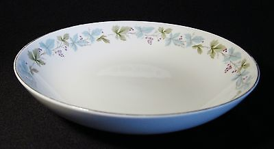 "Fine China of Japan Vintage 9"" Round Vegetable Bowl Leaves Grapes Berries FLAWS!"
