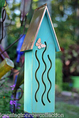 Butterfly House - Available In 4 Colors: Green, Turquoise, Pink Or Yellow