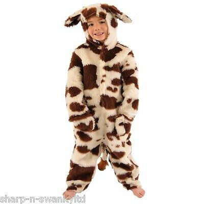 Boys Girls Deluxe Fur Cow Christmas Nativity Animal Fancy Dress Costume Outfit