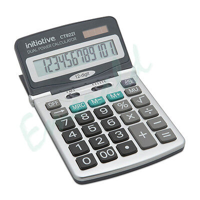 12 Digit Desktop Calculator Adjustable Angle Display Large Keys - Fast Dispatch