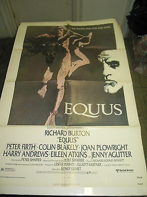 Equus / Original U.s. One-Sheet Movie Poster   (Richard Burton)
