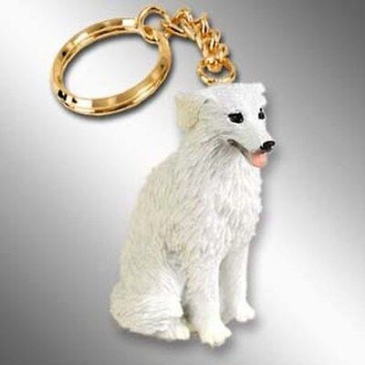 GREAT PYRENEES Dog Tiny One Resin Keychain Key Chain Ring