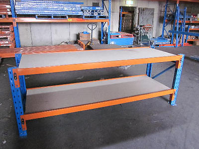 NEW WORK BENCH 2410mm X 914mm X 840mm WITH PARTICLE BOARD