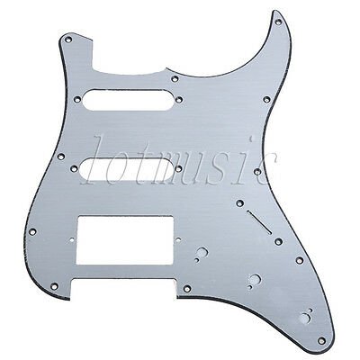 Aluminum Surface Electric Guitar Pickguard For Fender ST replacement SSH 11hole