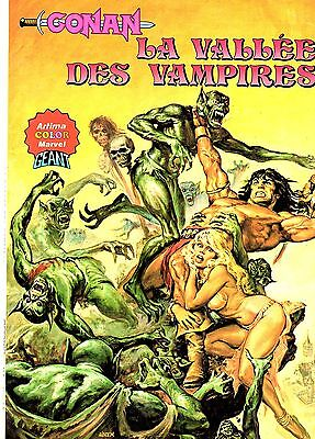 Conan (Artima Color Marvel Geant) La Vallee Des Vampires Aredit 1981 Be