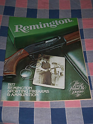 Remington 1977 Sporting Firearms & Ammunition 40 Pages