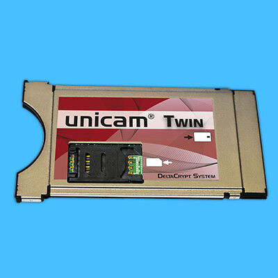 Unicam CI CAM Modul UNICRYPT Deltacrypt Twin Hardware Level 3.0 twincam FULL HD