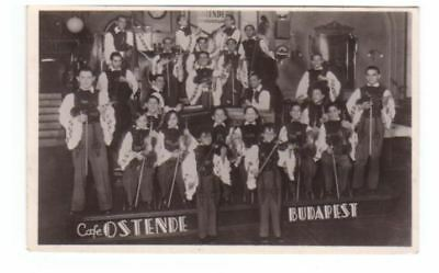 Hungary postcard - String Orchestra in an Ostende Cafe, Budapest