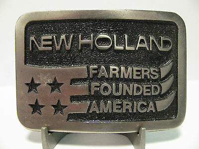 * New Holland Farmers Founded America Belt Buckle Lewis Corp.Palatine IL tractor