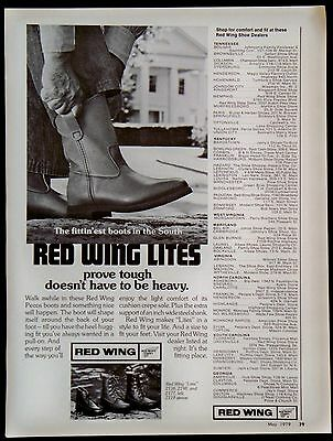 Vintage 1979 Red Wing Lites Boots Magazine Ad