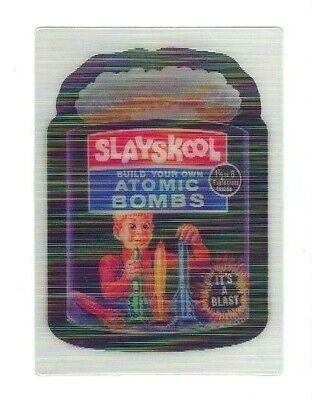 2008 Topps Wacky Packages Flashback Series 1 MOTION Card #8 SLAYSKOOL