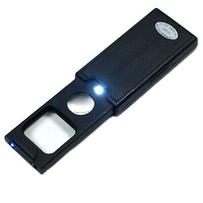 Mini 60X Jewelers Loupe / Magnifier with LED & UV Lights w/ iPhone 5 Mount Cover