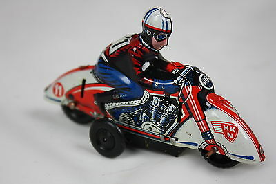 HUKI  Tin Toy Motorcycle 1940s  Made in U.S.-Zone Germany * Best condition !