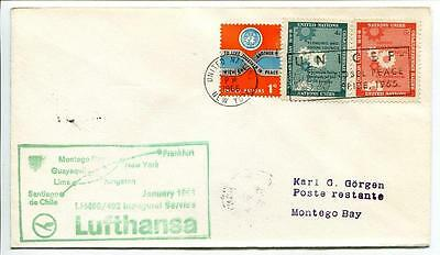 FFC 1966 Lufthansa Volo Speciale ONU United Nations UNICEF New York Nobel Peace