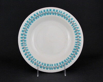 "Shenango China Lawrence Ware Soup Bowl with Blue & Gray Decoration, 9"" dia"